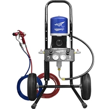 C.A. Technologies H2O-OB14-C5 H2O Bobcat Air Assist Airless Peak Performance Series 14:1 Cart Mount Pump Outfit