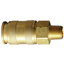 "C.A. Technologies 53-576 Economy High Flow Quick Disconnect Coupling 1/4"" Male Body"