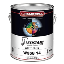 M.L. Campbell W358 14 1 Resistant Post-Catalyzed Pigmented Varnish - White Satin