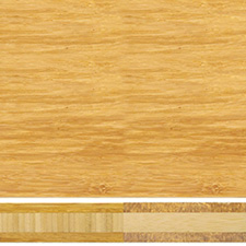 Teragren Bamboo Countertop - Unfinished Vertical Grain Caramelized Face + Wheat Strand Core - 1.5 x 36 x 72