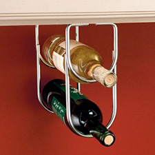 Rev-A-Shelf 3250CR Double Wine Bottle Rack for Under Cabinets - Chrome