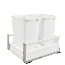 "Rev A Shelf TWCSC-21DM-2 17"" Double 35 Quart Soft-Close with TANDEMBOX Waste Containers"