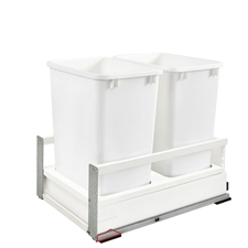 "Rev A Shelf TWCSC-18DM-2 14"" Double 35 Quart Soft-Close with TANDEMBOX Waste Containers"