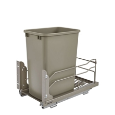 Rev-A-Shelf - 53WC-1535SCDM-112 - 35 Quart Pullout Waste Container Soft-Close - Champagne