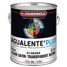 M.L. Campbell C136354 Agualente Plus Clear - Satin - 1 Gallon