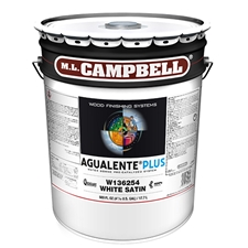 M.L. Campbell W136254 Agualente Plus White Satin Finish - 5 Gallons