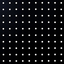 Arauco - Black 1S Perforated Fibrex 5.5mm 48x96