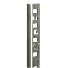 "Knape & Vogt 255 ZC 84 - Steel Pilaster Shelf Support - 84"" - Zinc"