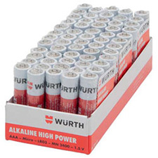 Wurth 0827111 Alkaline Battery AAA 60-pack