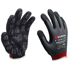 Wurth 0899401060804 Tigerflex Ergoplus Gloves - 1 pair - Size 10
