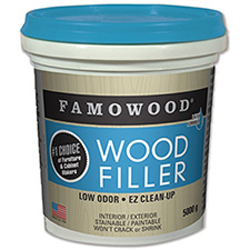 Famowood 42002144 Latex Wood Filler - White - 5000g Tub