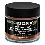 EcoPoxy Metallic Colour Pigment - Coral - 15g