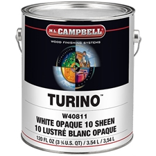 M.L. Campbell V40814 Turino Pigmented Conversion Varnish - 1 Gal - White Satin