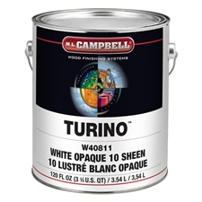 M.L. Campbell W40812 Turino™ Pigmented Conversion Varnish - White Dull - 1 Gallon