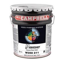 M.L. Campbell W358 211 Resistant High-Performance Pigmented Varnish - Opaque - Satin - 5 Gallons