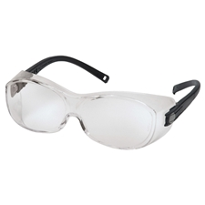 Wurth 899100004 Chrono OTG Safety Glasses - Black temples/Clear Lens