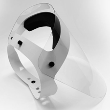 Face Shield with Neoprene Head Band and 2-Way Straps - Made in Canada