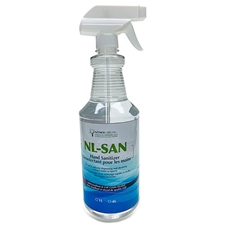 NL-SAN Alcohol-based Hand Sanitizer with Emollient 1-Litre with Spray Top