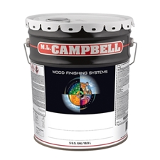 M.L. Campbell W40812 TURINO Pigmented White/Opaque Conversion Varnish - Dull - 5 Gallon