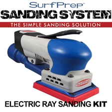 SurfPrep 3″X4″ Electric Ray Sanding System Kit - Vacuum Compatable