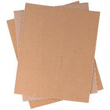 "Wurth 8507144112961 Gold Plain Sanding Sheet - 120 Grit - 9"" x 11"" - 50/Box"