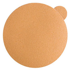 "Wurth 8507342222961 Gold Sanding Discs – Peel & Stick – 220 Grit – 5"" – No Holes - 100 per box"