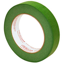 Premium Safe Tack Green Masking Tape - 1in x 180ft