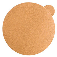 "Wurth 8507342224961 Gold Sanding Discs – Peel & Stick – 240 Grit – 5"" – No Holes - 100 per box"