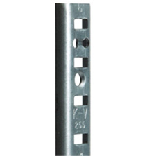 "Knape & Vogt 255 ZC 96 - Steel Pilaster Shelf Support - 96"" - Zinc"
