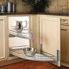 Rev A Shelf 582-18-LGS Compagnucci Door-Mount 2-Shelf Glass Curve for Blind Right Set