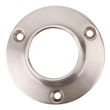 Closet Rod Closed Flange 1-5/16 Inch 32mm - Aluminum Chrome Plate