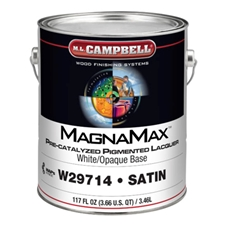 M.L. Campbell W297 14 1 MagnaMax Pre-Catalyzed Pigmented Lacquer White/Opaque Base - Satin Finish