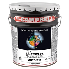 M.L. Campbell W375 211 5 Resistant Post-Catalyzed Pigmented Varnish - Opaque Gloss - 5 Gallons