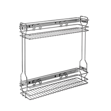 "Rev A Shelf 548-06CR-1 Pullout Organizer for Base 9"" Cabinets"