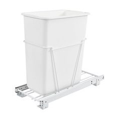 Rev-A-Shelf RV-9PB 30 Quart Single Bottom Mount Waste container With 3/4 Extension Slides