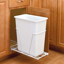 Rev-A-Shelf VL-9PB 30 Quart Value Line Single Bottom Mount Waste container With 3/4 Extension Euro Slides