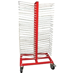 Pro 50 Shelf Rolling Drying Rack For Finishing Materials