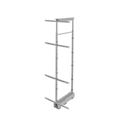 "Rev-A-Shelf 5758-09-CR 58"" H Pullout Pantry with Wire Shelves & Two Soft-Close slides 8 7/8"" W"