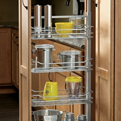 "Rev-A-Shelf 5743-20-CR 43"" H Pullout Pantry with Wire Shelves & Two Soft-Close slides 20 5/8"" W"