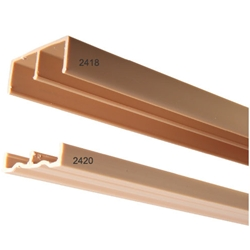 Knape & Vogt 2418.TAN.144 Upper Plastic Track and Glides for Sliding Doors - Tan