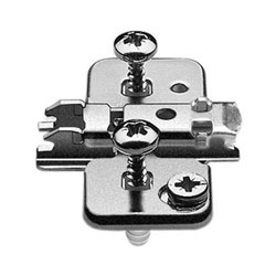 Blum 174H7100E Cruciform Cam Mounting Plate - Spacing: 0mm - Height: 8.5 +/- 2mm - EXPANDO