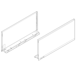 Blum Legrabox Pure 770F4502S Drawer Side Height-F 450 mm (18 inches) Orion Grey - Pair