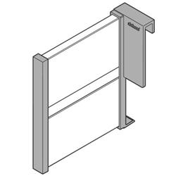 Blum Orga-Line Z43L100S 100mm Lateral Divider for High Fronted Pull-out - Grey