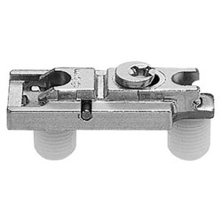 Blum 177H5100 Horizontal Cam Mounting Plate - Spacing: 0mm - Height: 8.5 +/- 2mm - Knock-in