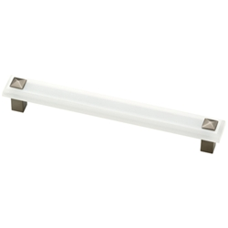 Liberty P30941-FWS-C Kaley Collection 160mm Pull Frosted Acrylic & Heirloom Silver