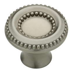 "Liberty Hardware P28188-SN-C Taryn Collection 1-3/8"" Knob Satin Nickel"