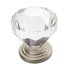 "Amerock 14303CSG Traditional Classics Collection Crystal Knob - 1 1/4"" - Satin Nickel"