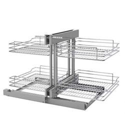 "Rev A Shelf 5PSP-18SC-CR Blind Corner Pullout Organizer - Pull-Slide-Pull - for 18"" Cabinet Opening"