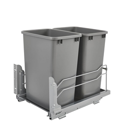 Rev-A-Shelf - 53WC-1835SCDM-217 - Double 35 Quart Pullout Waste Container Soft-Close