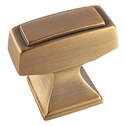 "Amerock BP53029GB Mulholland Collection Rectangle T-Knob - 1 1/4"" - Gilded Bronze"